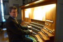 Stefan Kordes an der Orgel in St. Jacobi