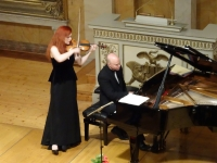 Rachel Kolly d'Alba und Christian Chamorel in der Göttinger Aula